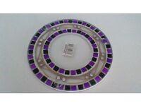 Yankee Candle purple mosaic jar plate