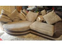 SCS Cuddle Sofa and Footstool.