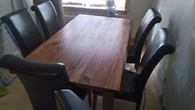 Dining table+6 chairs