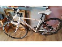 Ladies racer bike bought for 1000£ January 2015, both carbon fork, equipment Shimano Tiagra and 105
