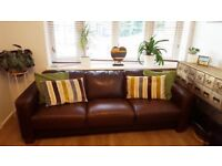 Leather Sofa (Brown), great condition