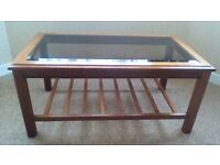Coffee Table with bevelled edged Glass insert