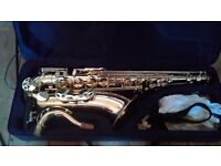 Tenor saxophone and accessories brand new - played less than 15mins
