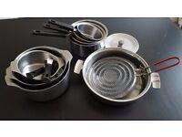 Set of Gas/Electric Saucepans (10 pieces)