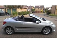Peugeot 207 CC, 2008/08, Convertible, 12 Months MOT, 84000 Miles, Full History, Immaculate 1.6 GT