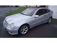 Mercedes Benz Coupe C Class 2.1 CDI SE 2 Door Full Glass Panoramic Electric Sunroof