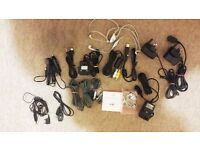 Bundle of Cables USB Adaptors Headphones Samsung Sony Ericsson LG
