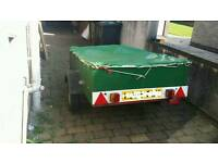 Car Trailer metal and wooden frame 6ft x 4ft cover included