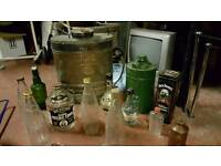 Copper sprayer and selection of bottles