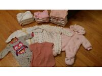 Baby Girl 0-3 month clothing bundle