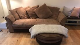 Brown soft lounger sofa