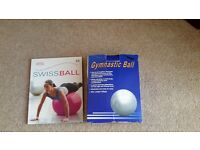 Keep fit/ exercise ball and instruction book