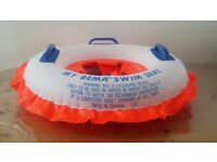 MY BEMA SWIM SEAT Orange White Blue Baby Hold Max Weight 48LBS 12 Months & Over