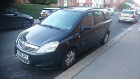 Vauxhall Zafira 1.6 cc 2008 / low mileage (63000) / 7 seater