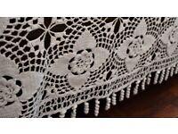 Unique hand made Spanish Crochet Bedspread-Queen size-White