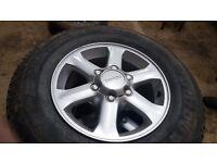 "Isuzu 16"" alloys and tyres"