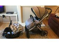 Pram and Car seat with adapters
