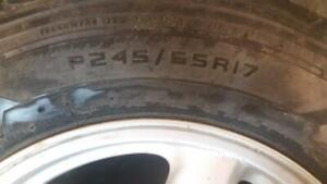 GMC SUMMER TIRES WITH RIMS 245/65/17