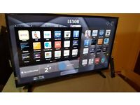 "LUXOR 43"" ultra slim SMART LED FULL HD 1080p TV,built-in WIFI,Freeview,Excellent condition"