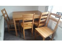 Ikea dining table and chairs