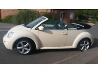 STUNNING, 2005 (55) VW BEETLE 1.6 S, CONVERTIBLE, BEIGE WITH LOVELY 17 INCH ALLOYS
