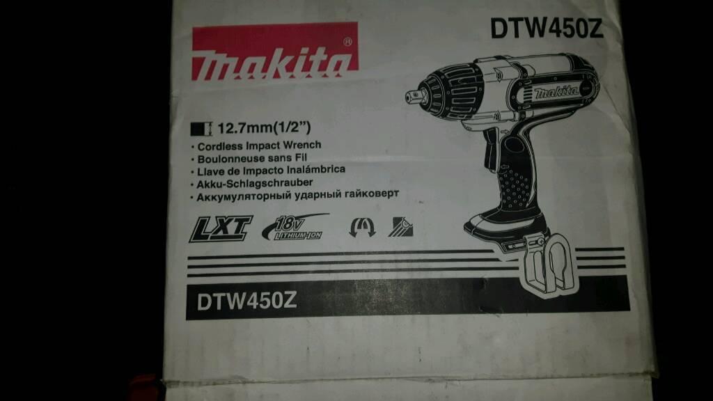 Makita DTW450 18v lxt range