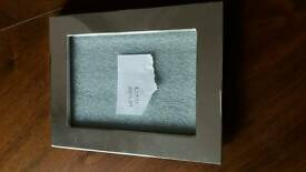 Silver coloured picture frame