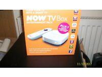 NOW TV BOX ENTERTAINMENT PACK, TURN YOUR TV INTO A SMART TV PLUS 3 MOTHS ENTERTAINMENT PASS INSIDE