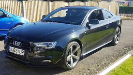 Audi A5 2.0 TDI Coupe Black Edition Quattro 2dr 2013 S Line Sat Nav - Audi FSH
