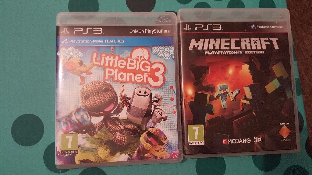 Minecraft and Little Big Planet 3 for Sony Playstation 3