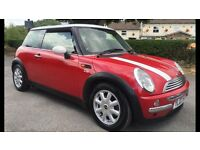 2003 (03) MINI COOPER 1.6, LONG MOT, STUNNING RED WITH MATCHING INTERIOR