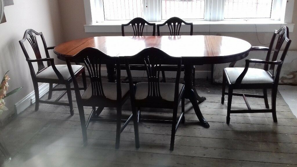 Phenomenal John Coyle Extending Dinning Table 6 Chairs And Sofa Table In Greenock Inverclyde Gumtree Bralicious Painted Fabric Chair Ideas Braliciousco