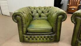 Stunning leather chesterfield club chair £200