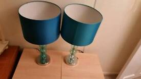 X2 bedside lamps