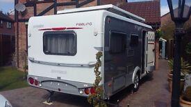 New  PRESTIGE 560 UFE 4 Berth Fixed Bed Caravan 200607 Like Lmc Amp Hymer