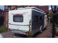 HYMER ERIBA feeling 425 4 berth fixed bed poptop caravan 2011