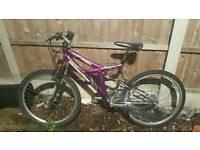 Ladies dakota full suspension 18 gears mountain bike