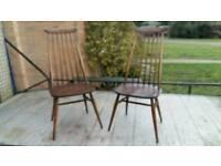 Original 1960s Ercol Chairs Windsor Design
