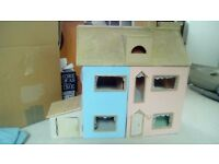 Hand crafted doll house with garage