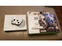 BRAND NEW BOXED XBOX ONE S 500GB 4K Console with wireless controller & FORZA HORIZON 3 GAME