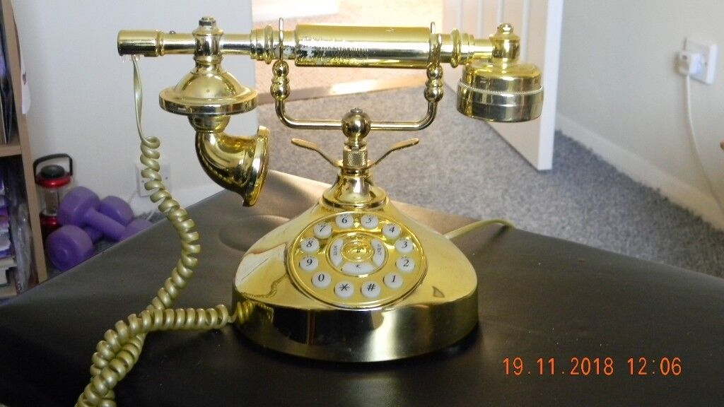 Gold Coloured Old Fashioned Phone In Thetford Norfolk Gumtree