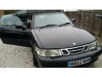 Black Saab 900 Turbo