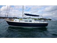 26' SAILING CRUISER, 6 BERTH, ENGINE 20HP BETA DIESEL LIKE NEW, GREAT VALUE. £8850