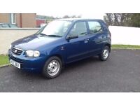 suzuki alto 2003 & 30 pound year road tax m.o.t to oct 17accept nearest offer