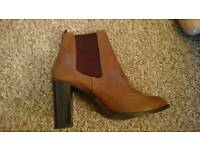Size 7 Brown Ankle Boots never worn