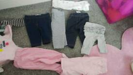 Bundle of 0-3 baby girl clothes