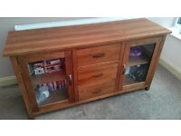 Solid Wood Sideboard 59 inches (length) x 31 inches (height) x 18 inches (width).