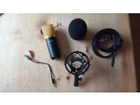 Soonhua Condenser Microphone, Barely used (With stand) *ONLY £25*
