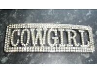 Ladies western belt buckle.