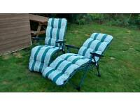 £20 ONO One year old folding Sunchairs!